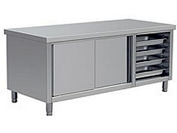Stainless steel single-pass working table