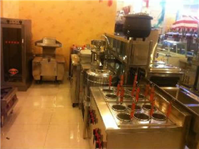 Hot pot shop kitchen engineering