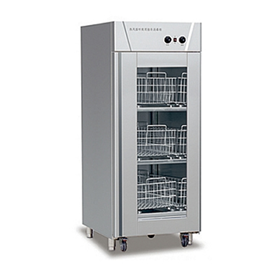 Hot air circulating disinfection cabinet for single door cart