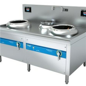Double-ended and Single-tail Electromagnetic Stir-frying Furnace