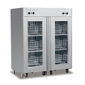 Double door trolley type hot air circulating disinfection cabinet